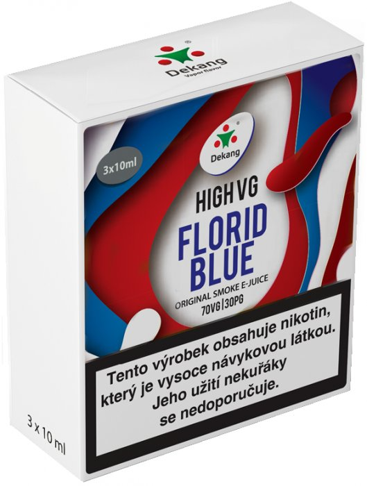 Liquid Dekang High VG 3Pack Florid Blue 3x10ml - 6mg