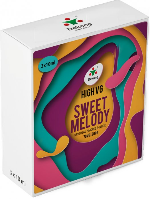 Liquid Dekang High VG 3Pack Sweet Melody 3x10ml - 0mg