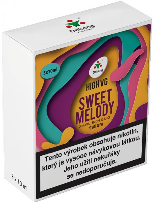 Liquid Dekang High VG 3Pack Sweet Melody 3x10ml - 1,5mg