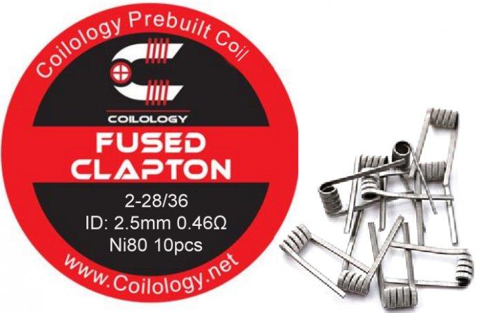 Coilology Fused Clapton předmotané spirálky Ni80 0,34ohm 10ks