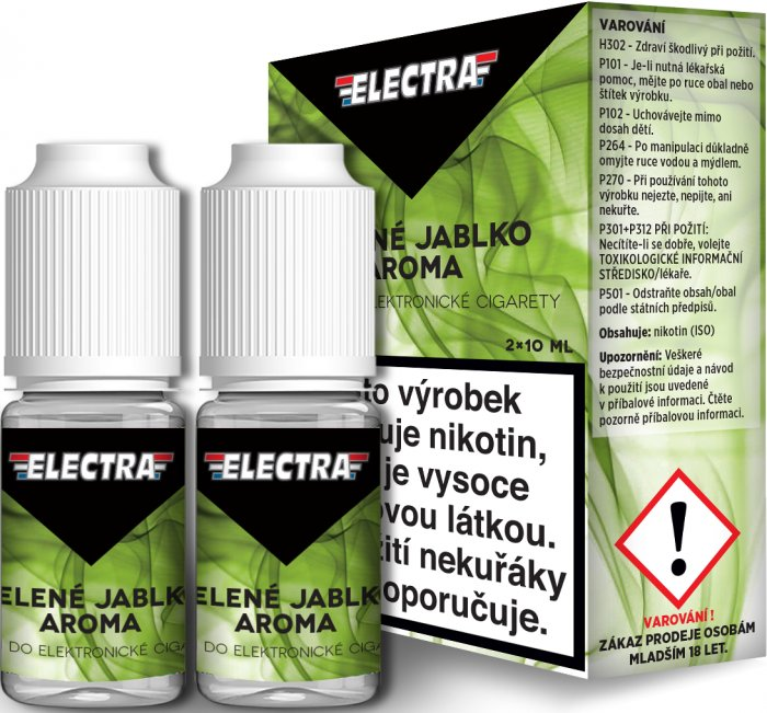 Liquid ELECTRA 2Pack Green apple 2x10ml - 18mg (Zelené jablko)