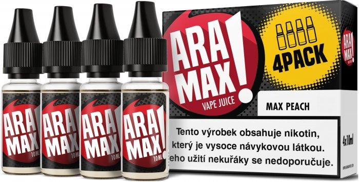Liquid ARAMAX 4Pack Max Peach 4x10ml-18mg