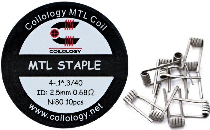 Coilology MTL Staple předmotané spirálky Ni80 0,68ohm 10ks