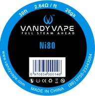 Vandy Vape Ni80 odporový drát 26GA 9m