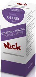 Liquid Nick Blueberry Menthol Zero 10ml-0mg (Menthol)