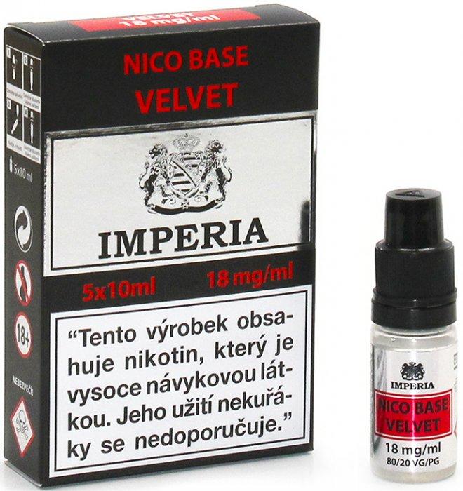 Nikotinová báze CZ IMPERIA Velvet 5x10ml PG20-VG80 18mg
