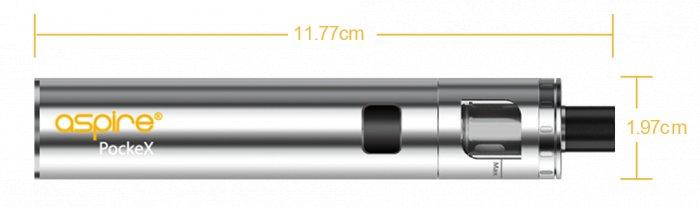 aSpire PockeX AIO elektronická cigareta 1500mAh Modrá 1 ks
