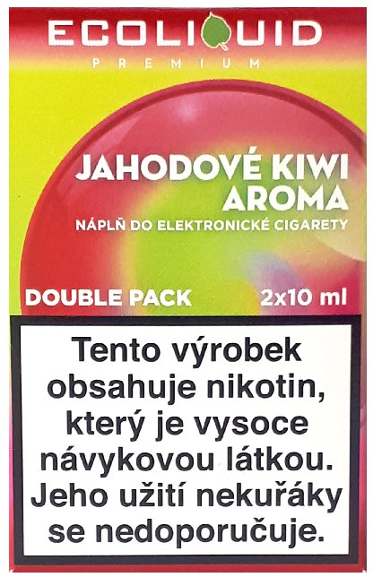 Liquid Ecoliquid Premium 2Pack Strawberry Kiwi 2x10ml - 20mg