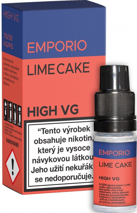 Liquid EMPORIO High VG Lime Cake 10ml - 0mg