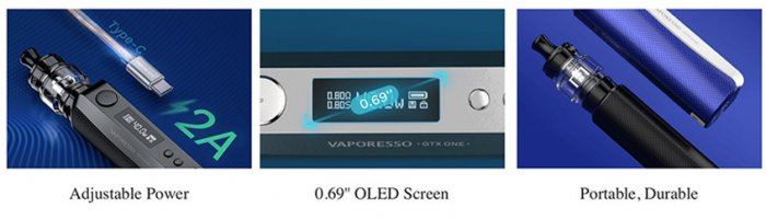 Vaporesso GTX One 40W Grip Full Kit 2000mAh Midnight Blue