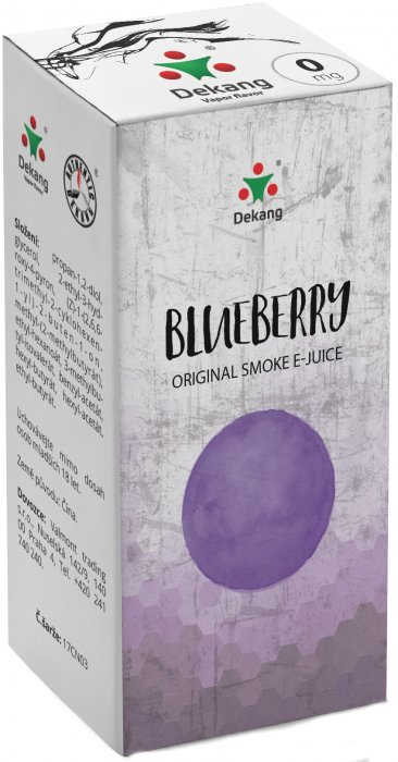 Liquid Dekang Blueberry 10ml - 0mg (Borůvka)