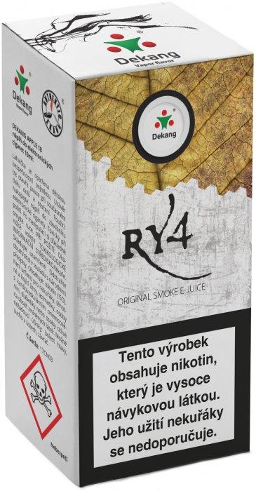 Liquid Dekang RY4 10ml - 6mg (směs karamelu, vanilky a tabáku)